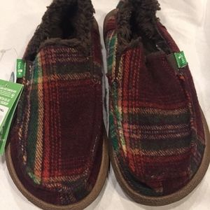 f234dce4042 Sanuk Shoes - Sanuk Big Kids Vagabond Plaid Chill Shearling Slip